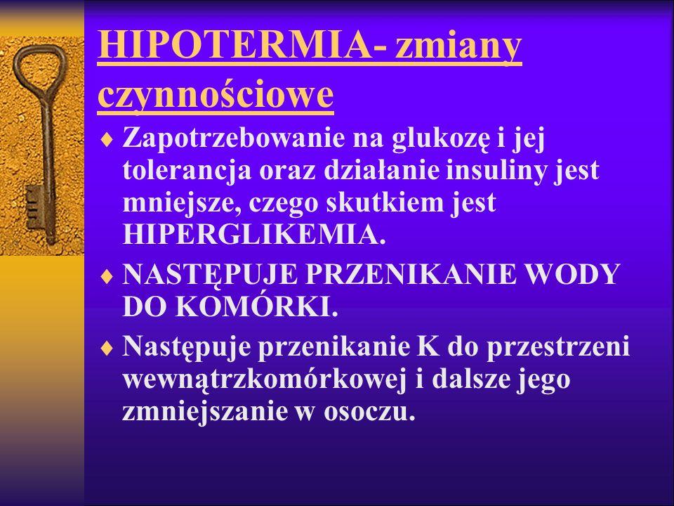 HIPOTERMIA- zmiany czynnościowe