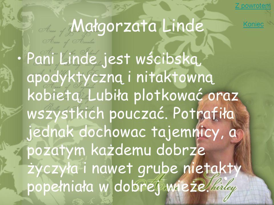 Z powrotemMałgorzata Linde. Koniec.