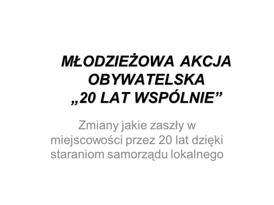 """MŁODZIEŻOWA AKCJA OBYWATELSKA """"20 LAT WSPÓLNIE"""