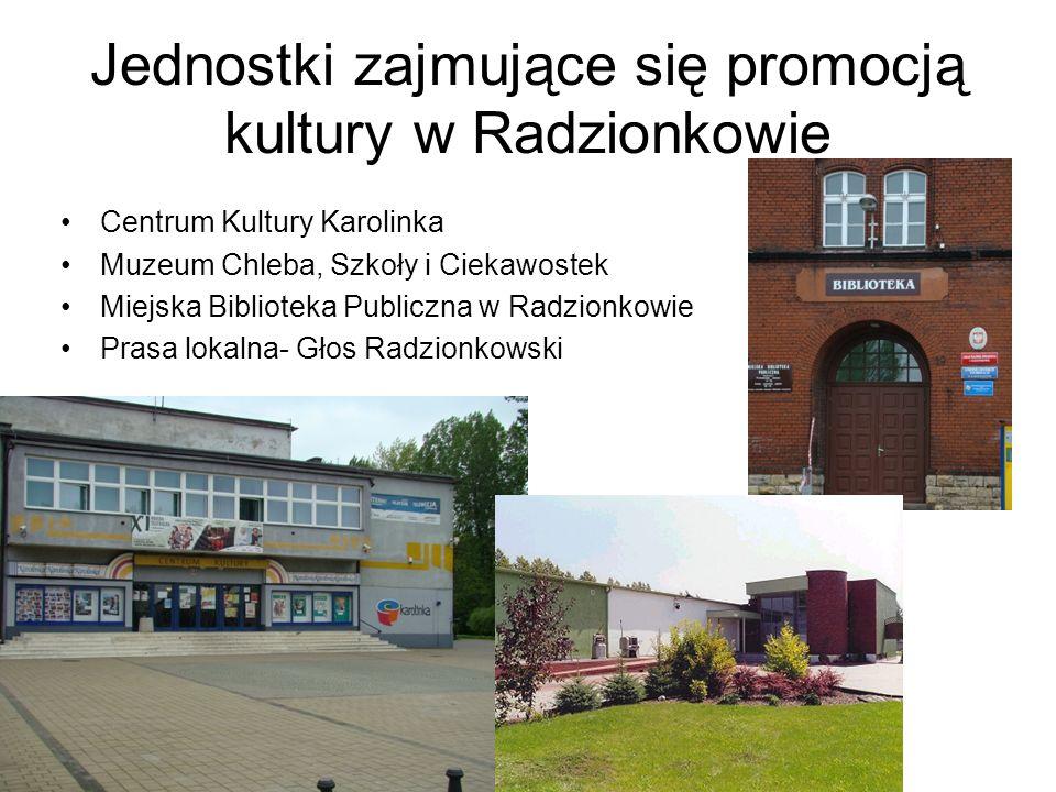 Jednostki zajmujące się promocją kultury w Radzionkowie