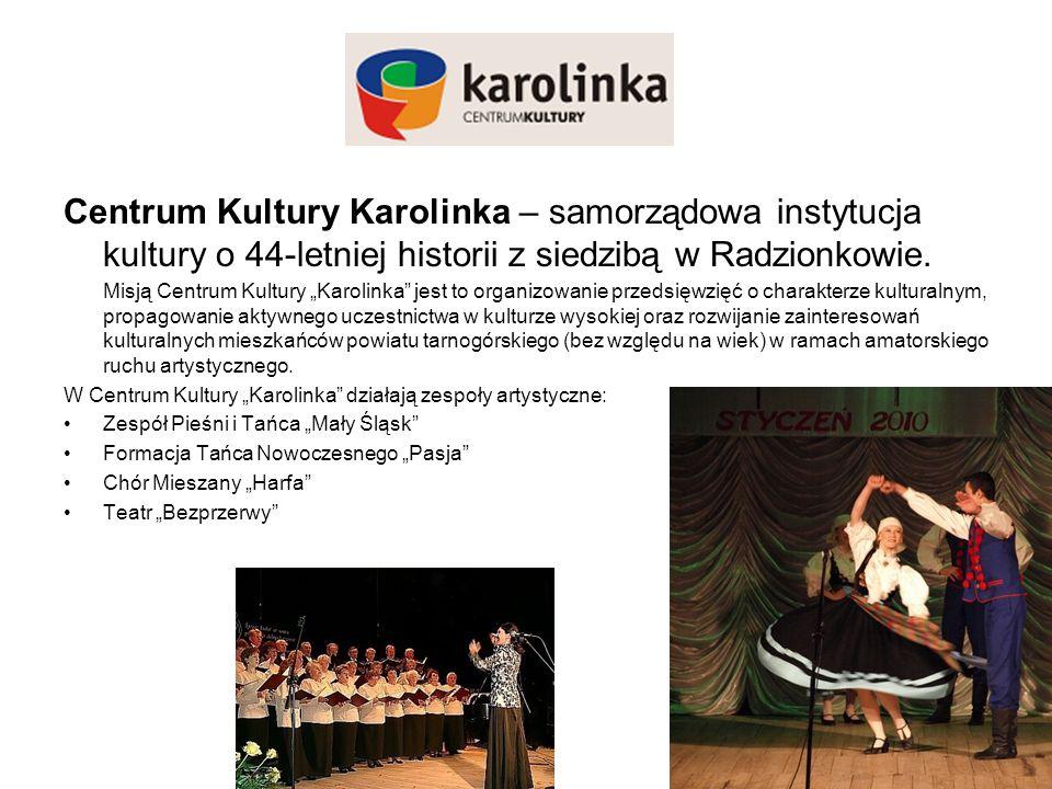 Centrum Kultury Karolinka – samorządowa instytucja kultury o 44-letniej historii z siedzibą w Radzionkowie.