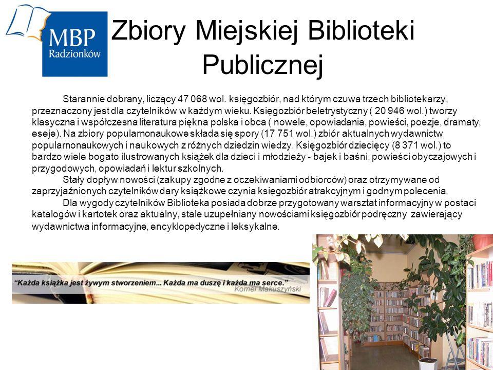 Zbiory Miejskiej Biblioteki Publicznej