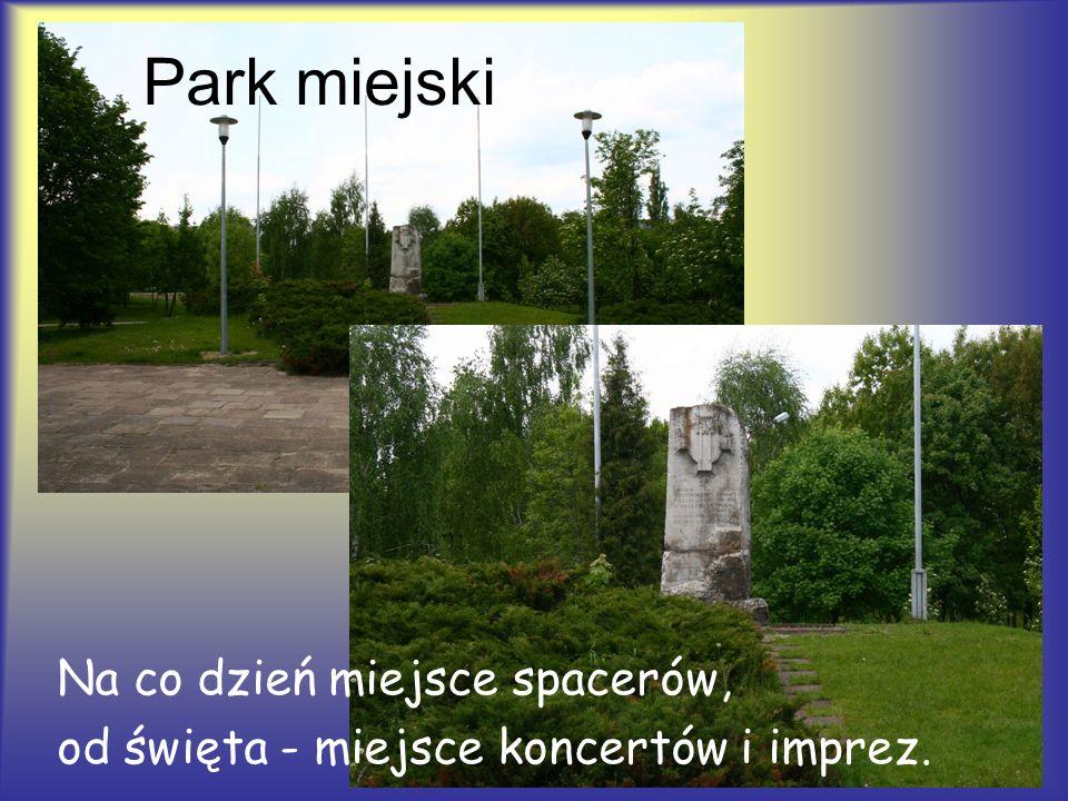 Park miejski Na co dzień miejsce spacerów,