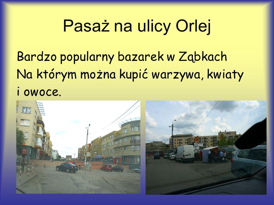 Pasaż na ulicy Orlej Bardzo popularny bazarek w Ząbkach