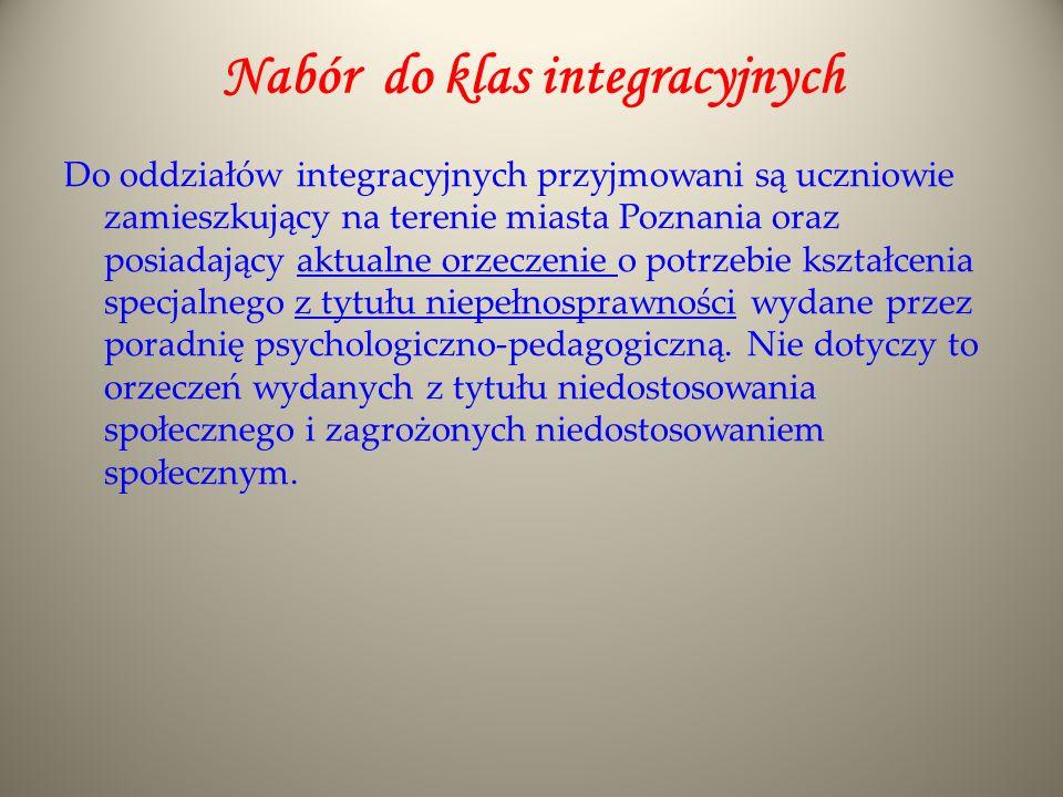 Nabór do klas integracyjnych