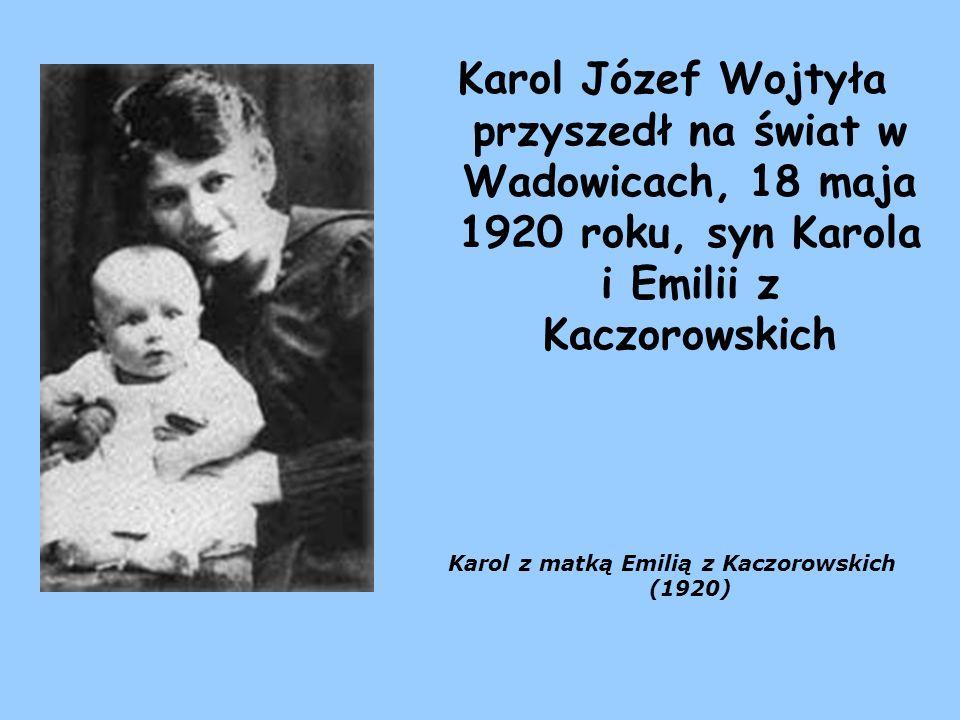 Karol z matką Emilią z Kaczorowskich (1920)