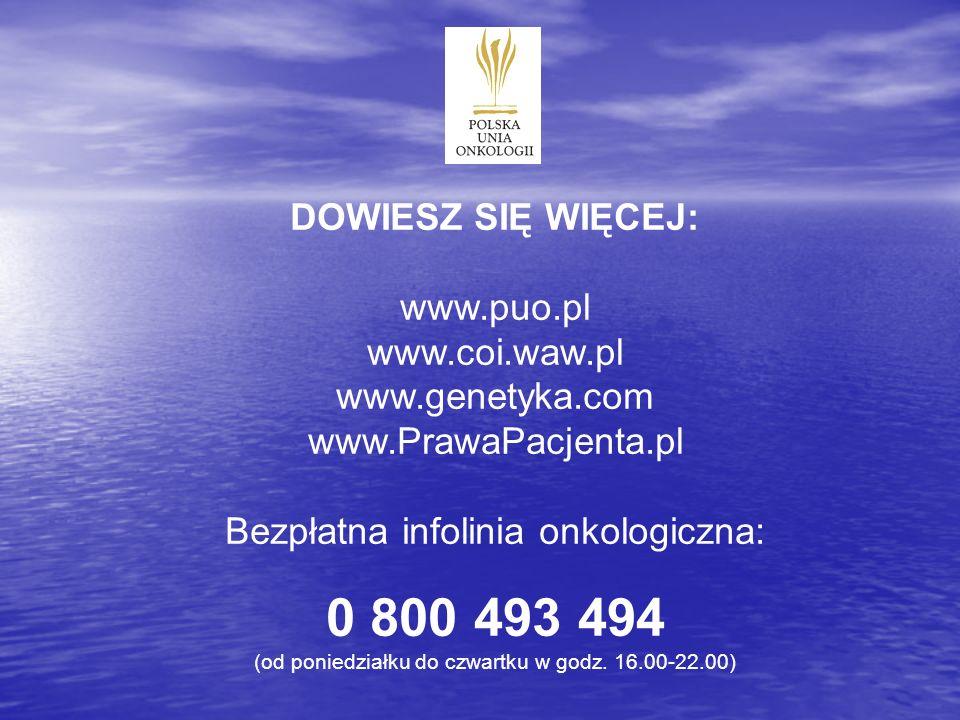 0 800 493 494 DOWIESZ SIĘ WIĘCEJ: www.puo.pl www.coi.waw.pl