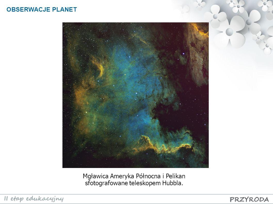 Mgławica Ameryka Północna i Pelikan sfotografowane teleskopem Hubbla.