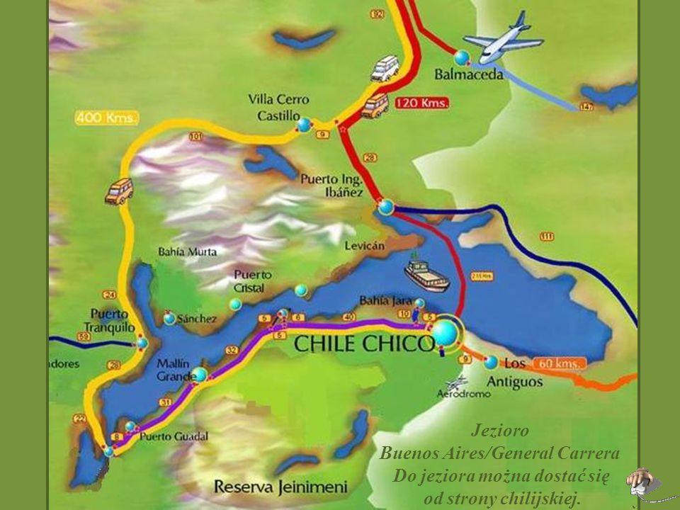Buenos Aires/General Carrera Do jeziora można dostać się