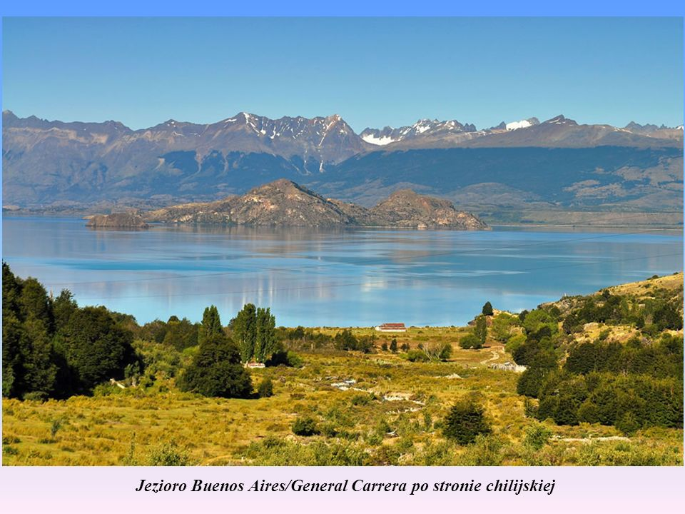 Jezioro Buenos Aires/General Carrera po stronie chilijskiej