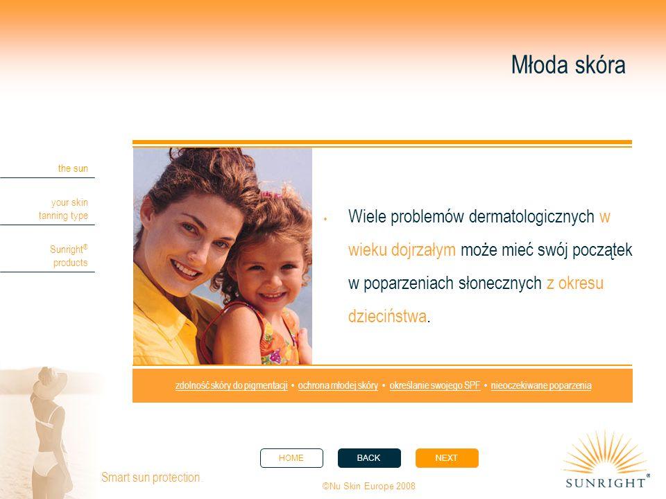 Młoda skóra Wiele problemów dermatologicznych w wieku dojrzałym może mieć swój początek w poparzeniach słonecznych z okresu dzieciństwa.