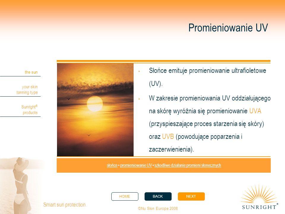słońce • promieniowanie UV • szkodliwe działanie promieni słonecznych