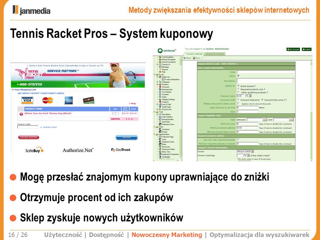 Tennis Racket Pros – System kuponowy