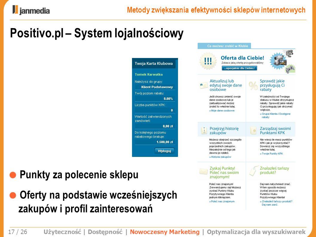 Positivo.pl – System lojalnościowy