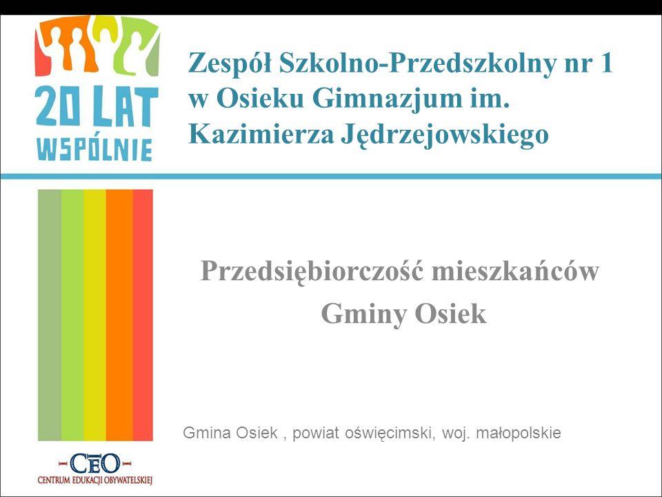 Przedsiębiorczość mieszkańców Gminy Osiek