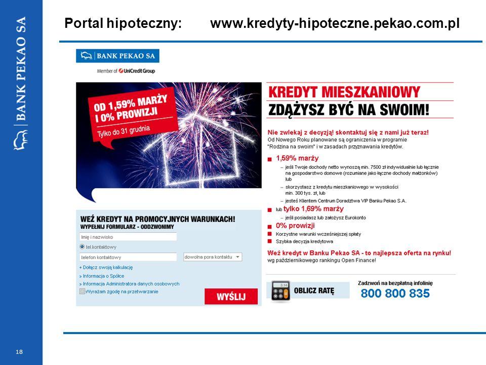 Portal hipoteczny: www.kredyty-hipoteczne.pekao.com.pl