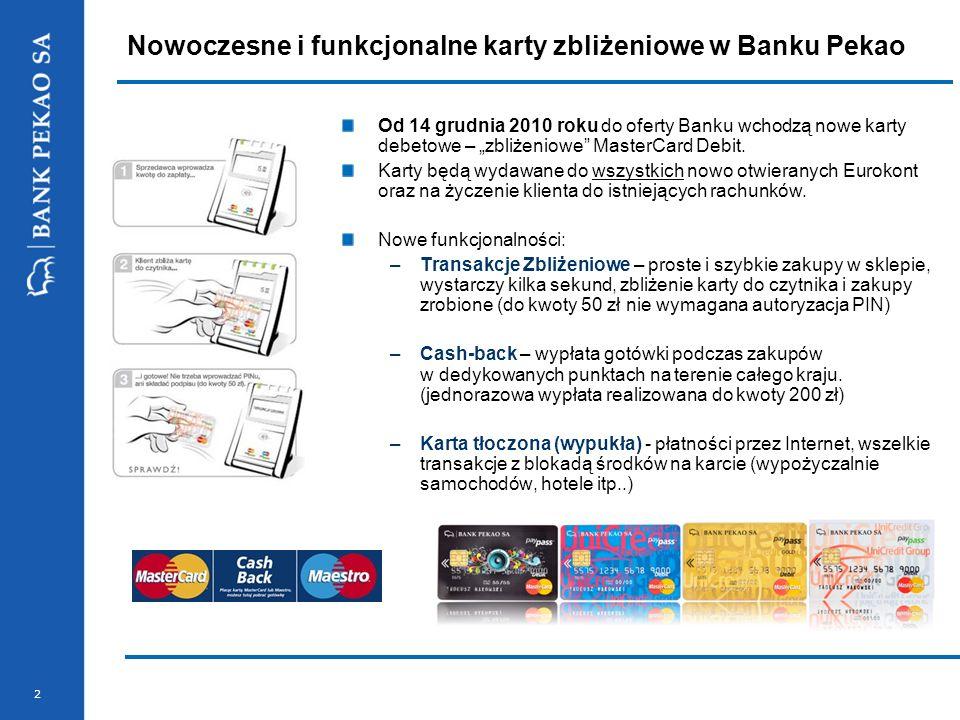 Nowoczesne i funkcjonalne karty zbliżeniowe w Banku Pekao
