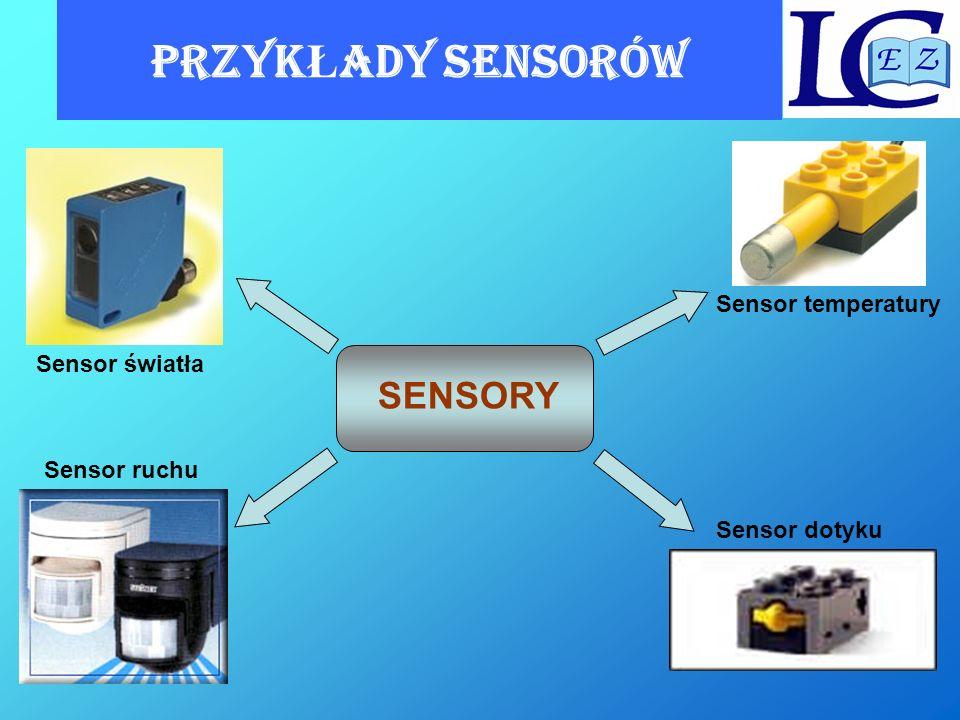 PrzykŁady SENSORów SENSORY Sensor temperatury Sensor światła