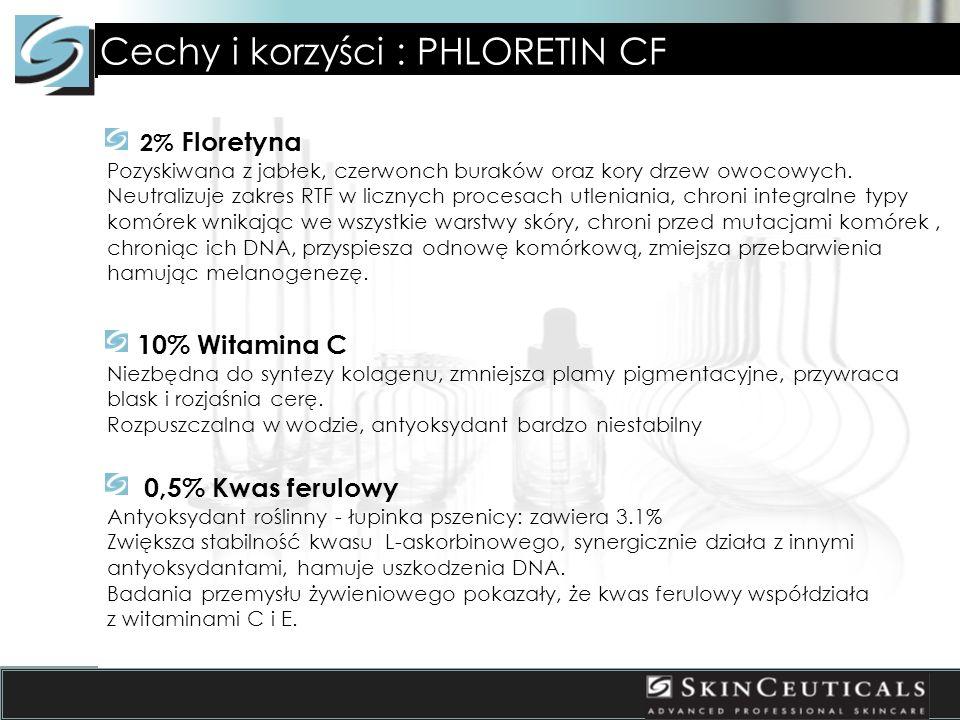 Cechy i korzyści : PHLORETIN CF