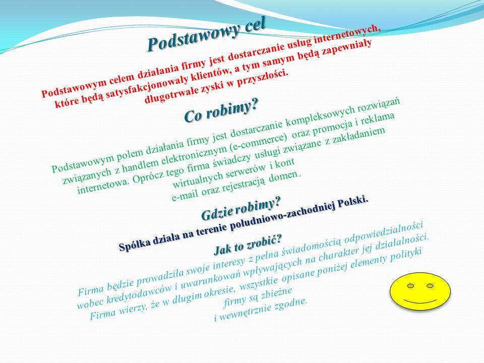 Spółka działa na terenie południowo-zachodniej Polski.