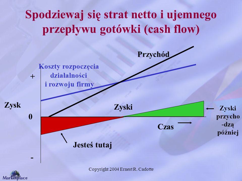 Spodziewaj się strat netto i ujemnego przepływu gotówki (cash flow)