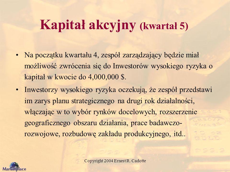 Kapitał akcyjny (kwartał 5)