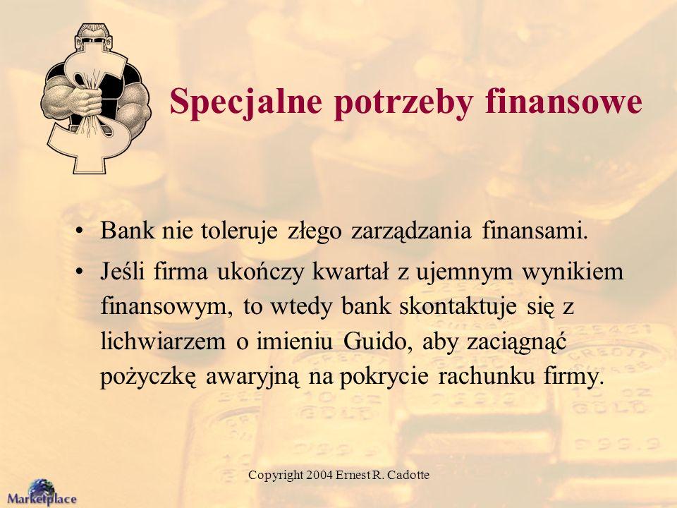 Specjalne potrzeby finansowe