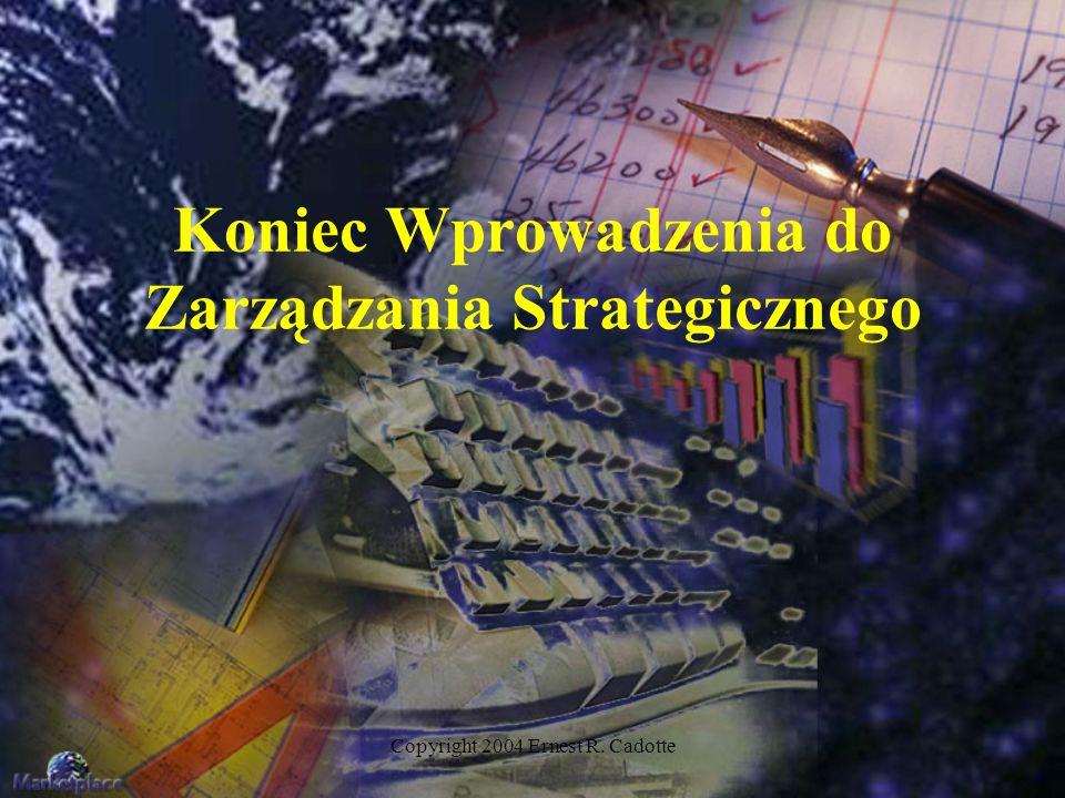Koniec Wprowadzenia do Zarządzania Strategicznego