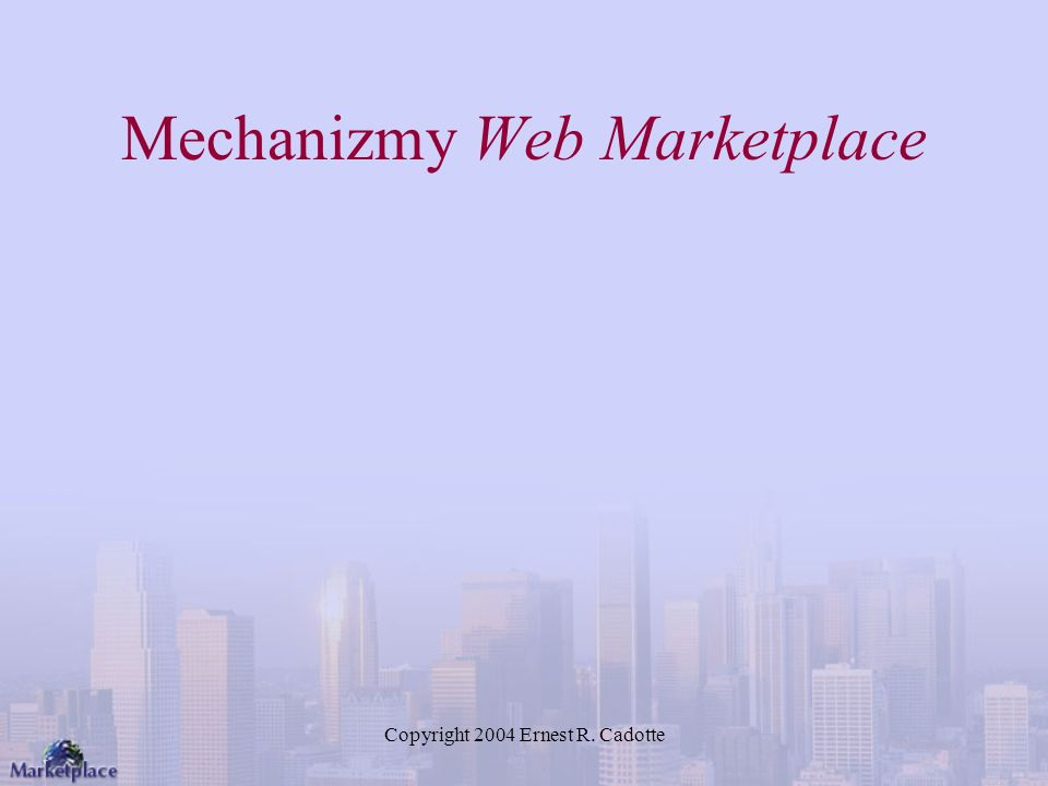 Mechanizmy Web Marketplace