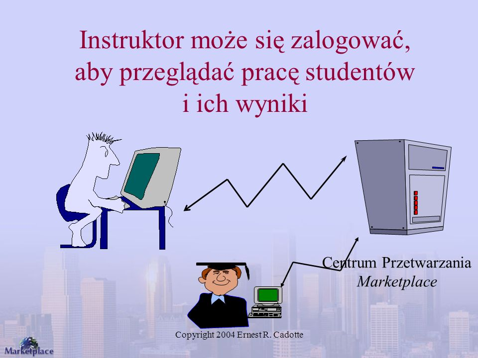 Instruktor może się zalogować, aby przeglądać pracę studentów i ich wyniki