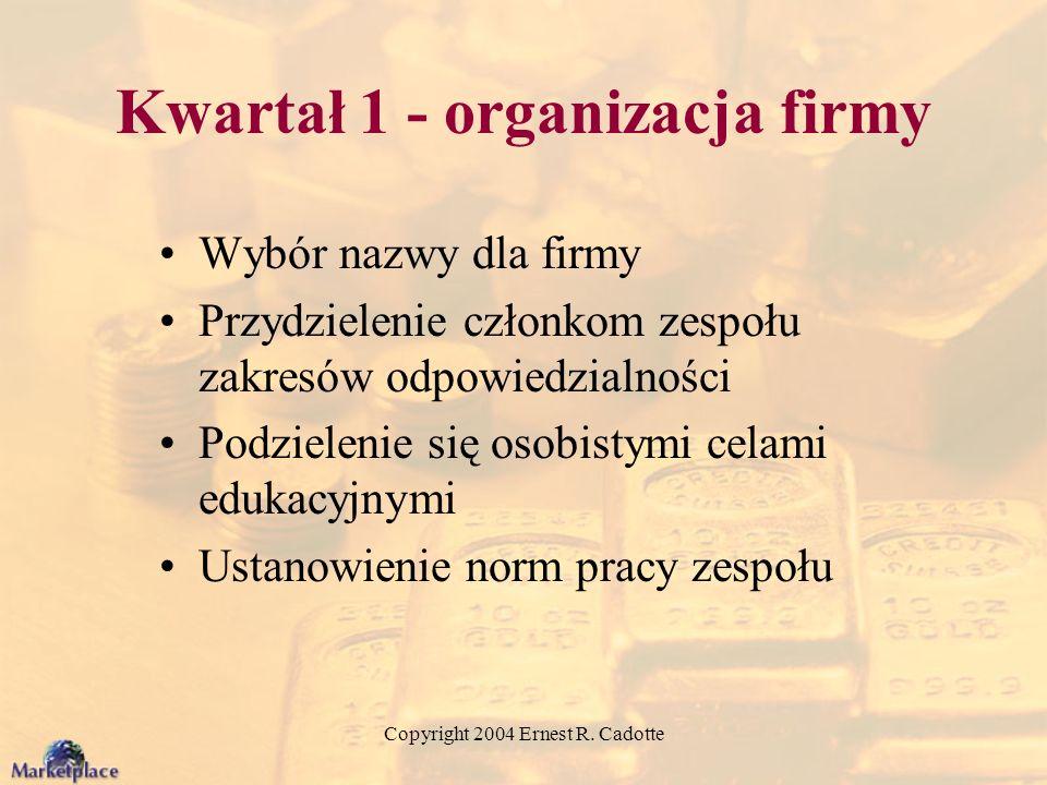Kwartał 1 - organizacja firmy