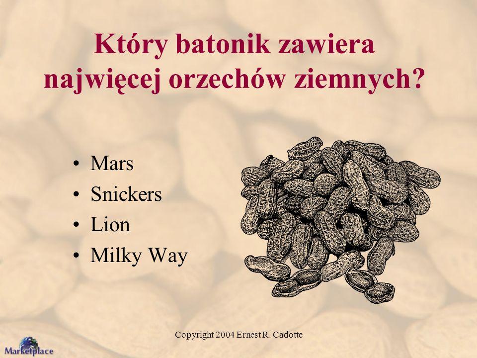 Który batonik zawiera najwięcej orzechów ziemnych