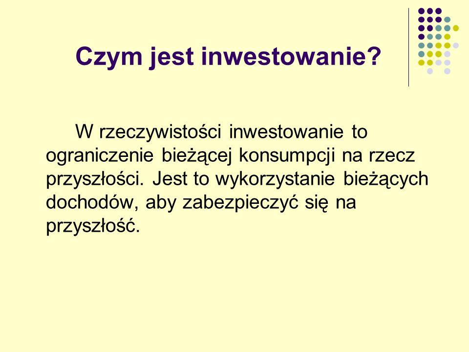 Czym jest inwestowanie