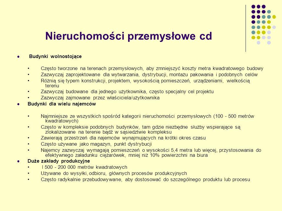 Nieruchomości przemysłowe cd