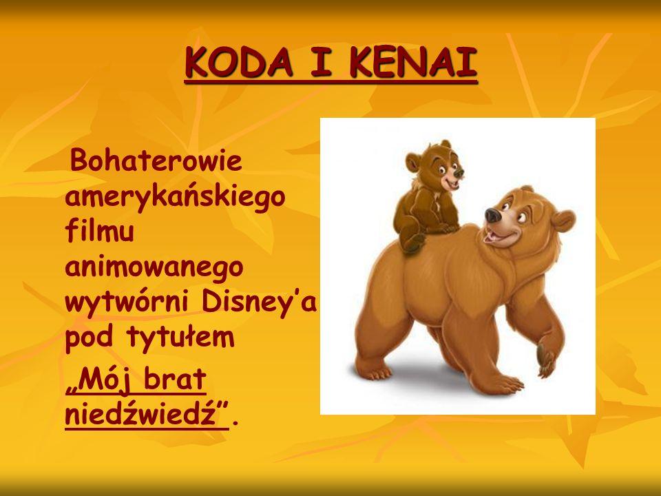 KODA I KENAI Bohaterowie amerykańskiego filmu animowanego wytwórni Disney'a pod tytułem.