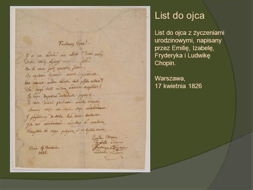 List do ojca List do ojca z życzeniami
