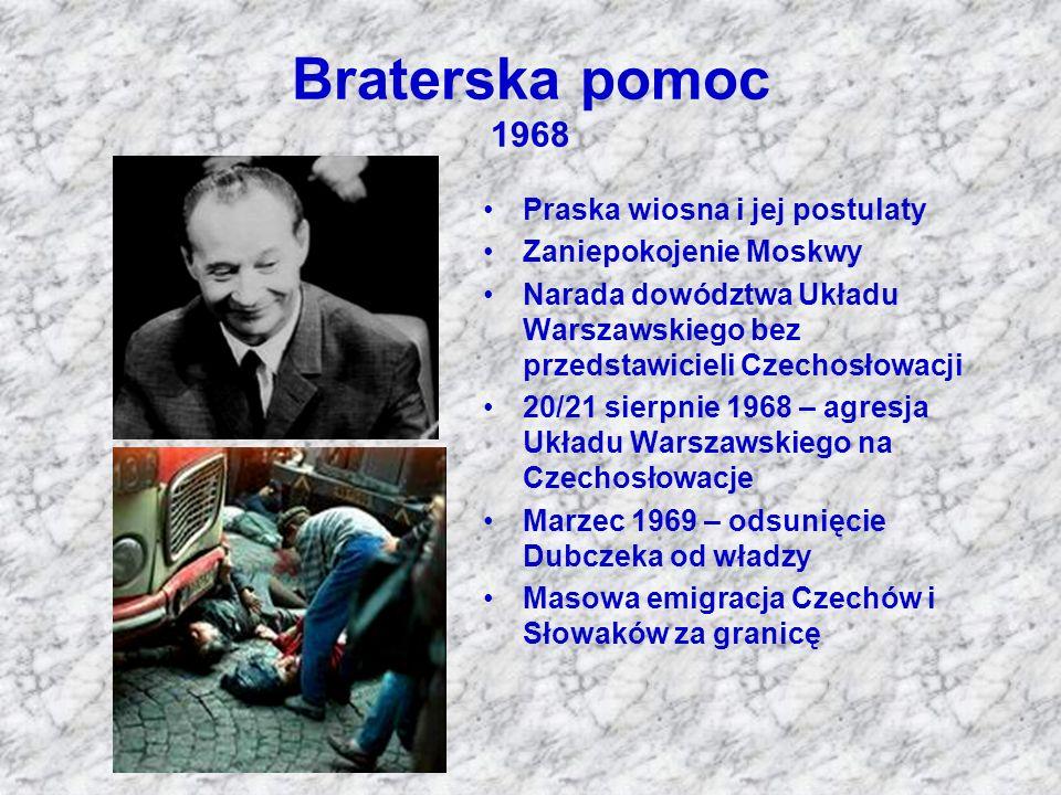 Braterska pomoc 1968 Praska wiosna i jej postulaty