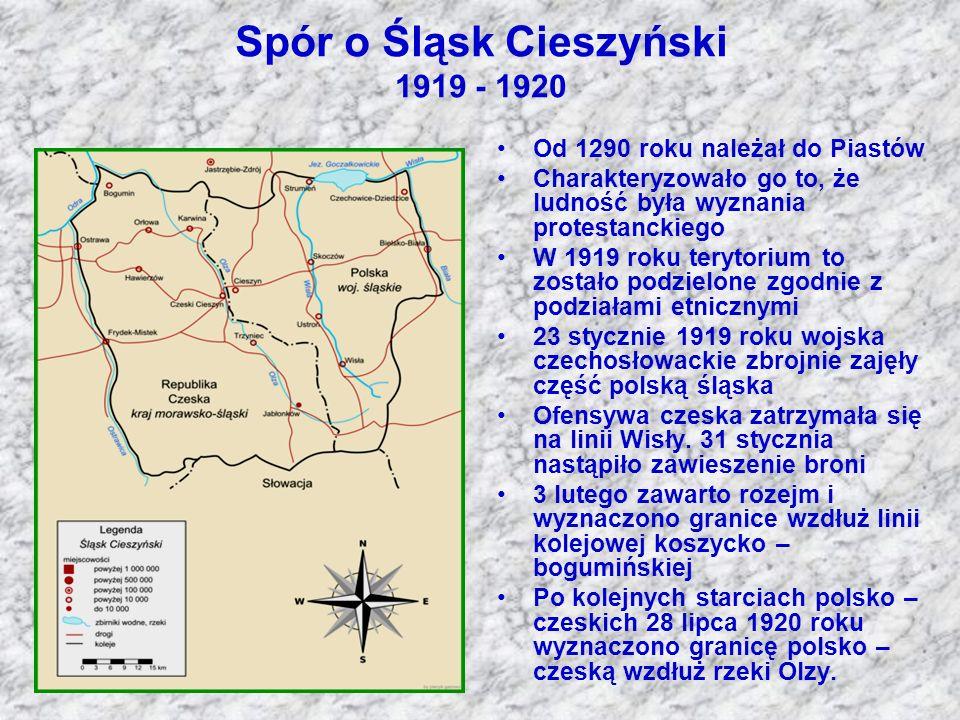 Spór o Śląsk Cieszyński 1919 - 1920