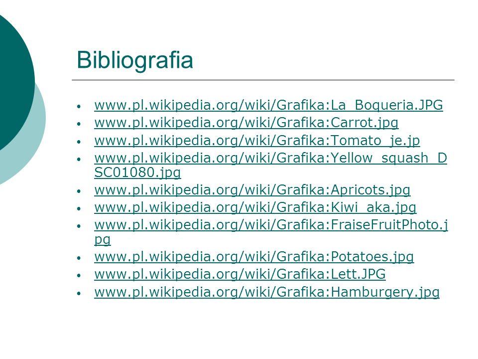 Bibliografia www.pl.wikipedia.org/wiki/Grafika:La_Boqueria.JPG