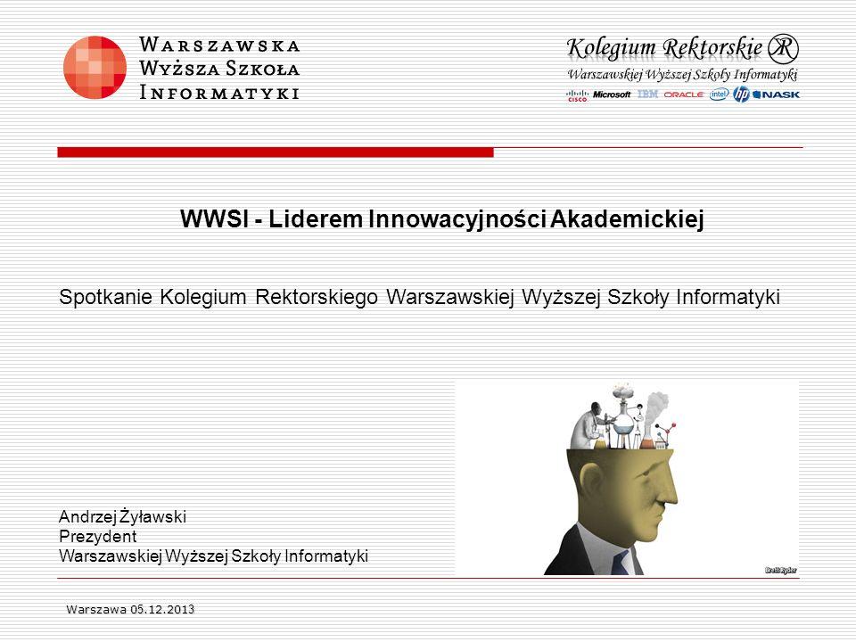 WWSI - Liderem Innowacyjności Akademickiej