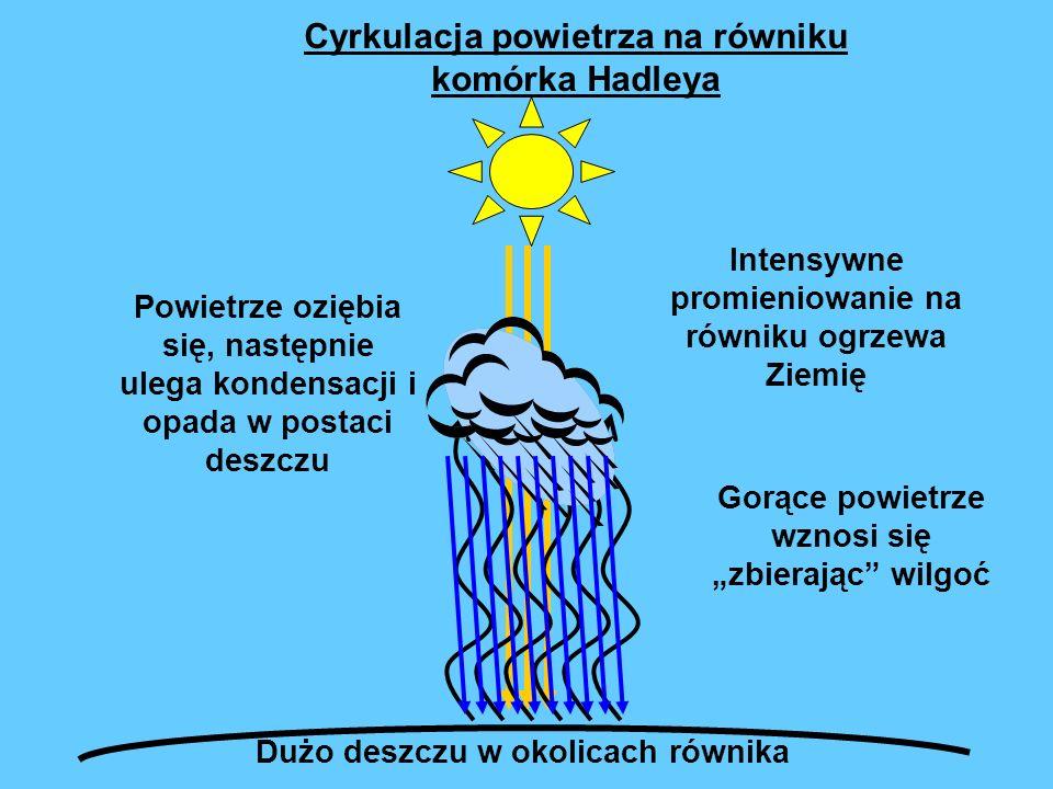 Cyrkulacja powietrza na równiku komórka Hadleya