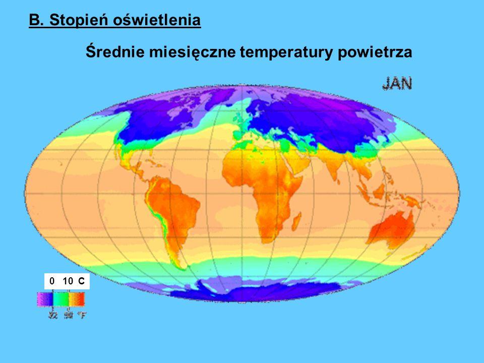 Średnie miesięczne temperatury powietrza