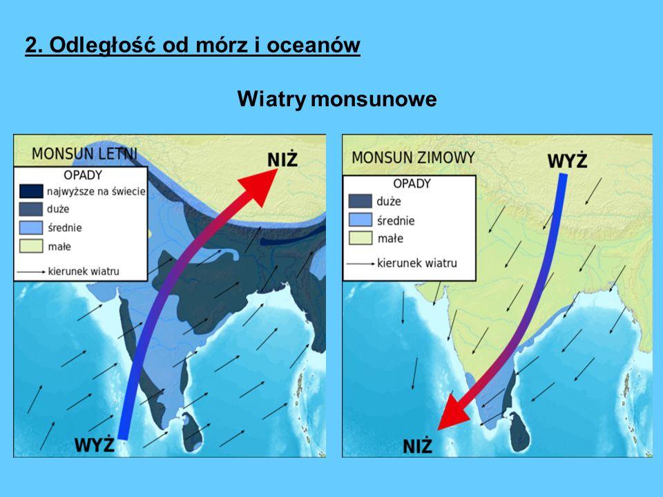 2. Odległość od mórz i oceanów