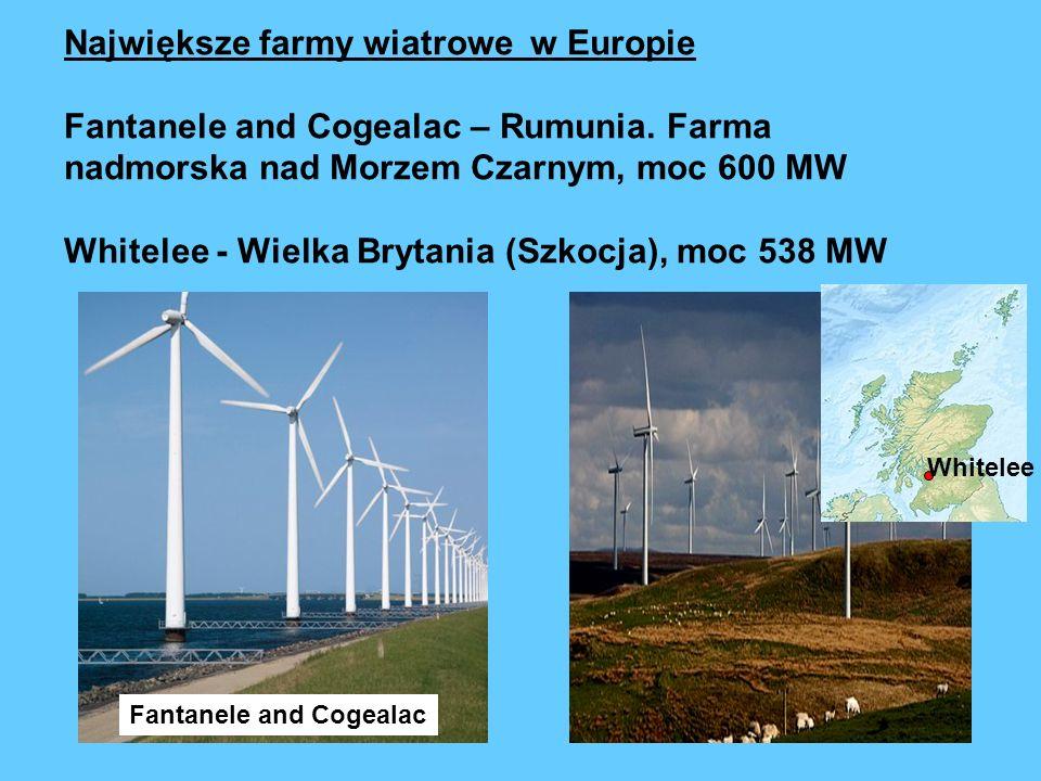 Największe farmy wiatrowe w Europie