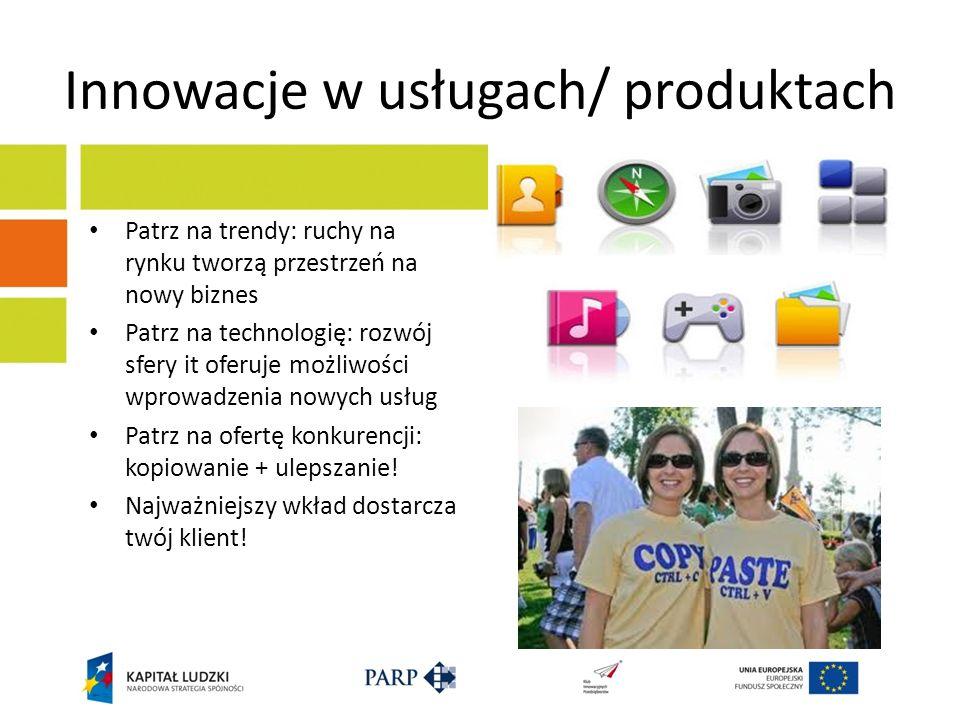 Innowacje w usługach/ produktach