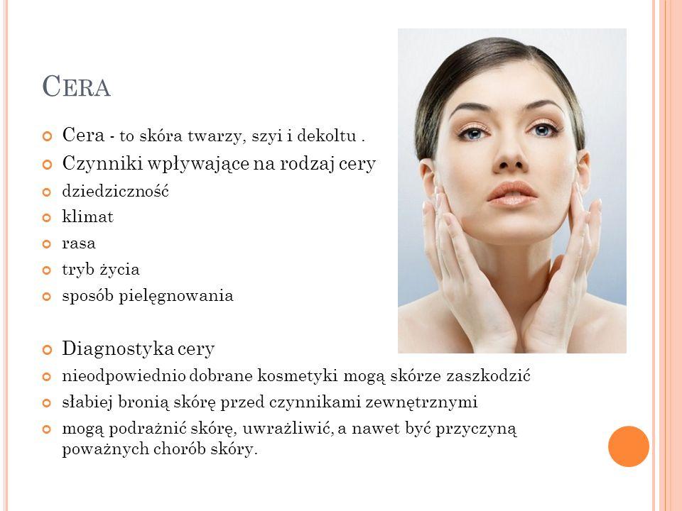 Cera Cera - to skóra twarzy, szyi i dekoltu .