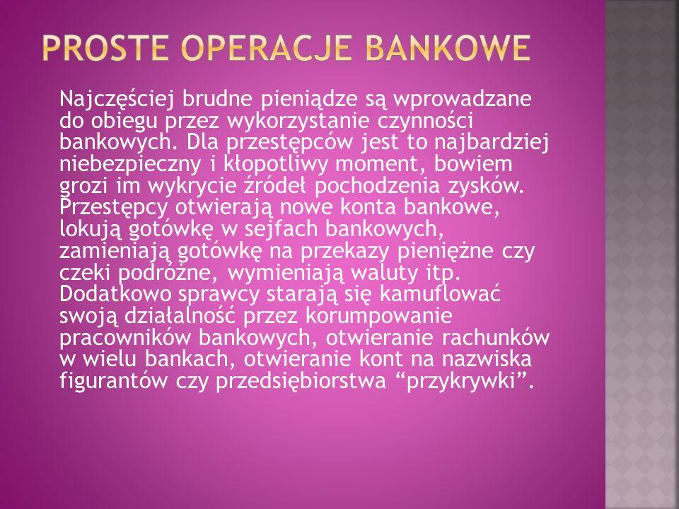 PROSTE OPERACJE BANKOWE