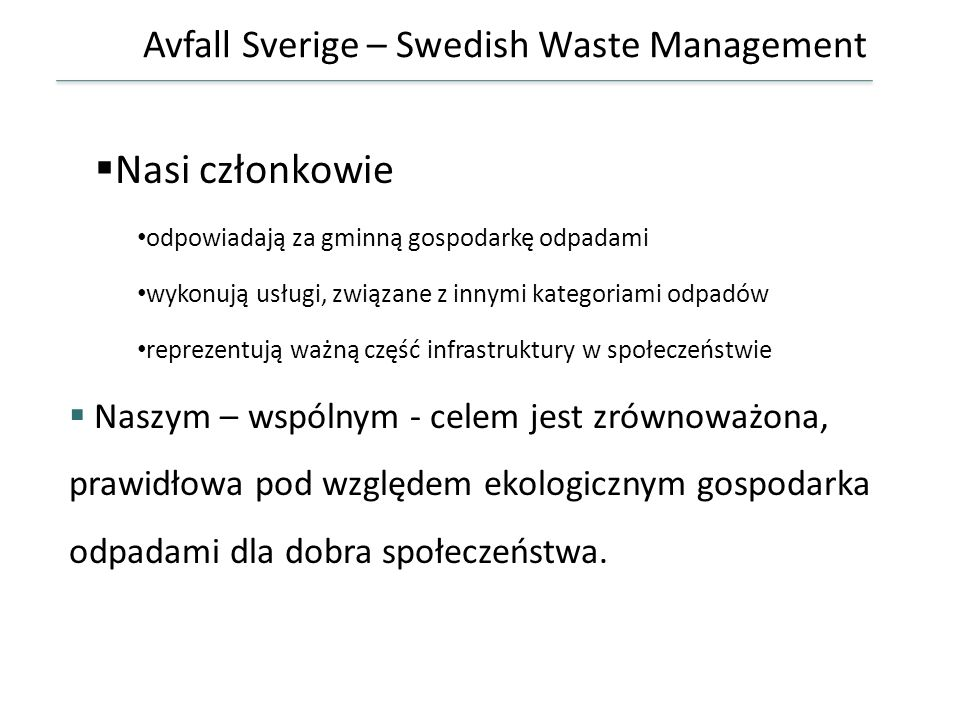 Avfall Sverige – Swedish Waste Management