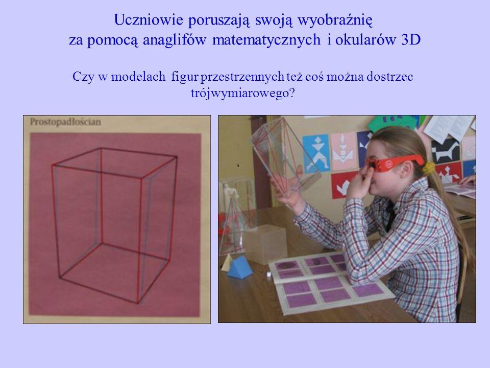 Uczniowie poruszają swoją wyobraźnię za pomocą anaglifów matematycznych i okularów 3D Czy w modelach figur przestrzennych też coś można dostrzec trójwymiarowego