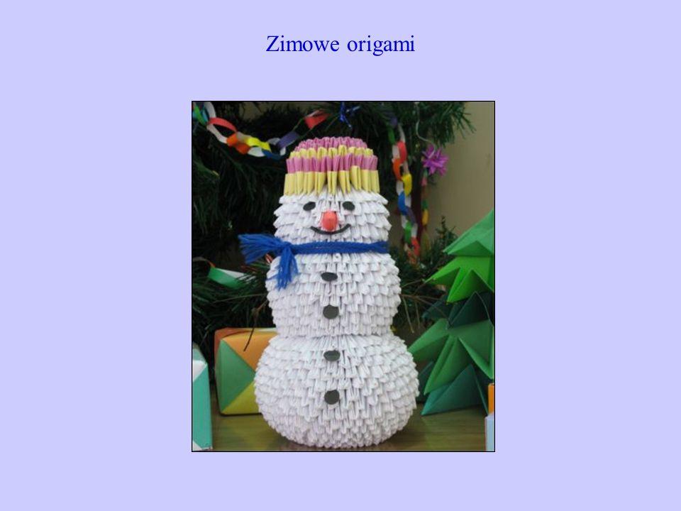 Zimowe origami